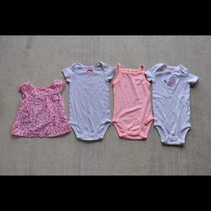 Baby Girl Bodysuits/Top Bundle 18 months